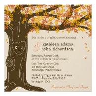 Oak Tree Fall Wedding Shower Invitation Invites