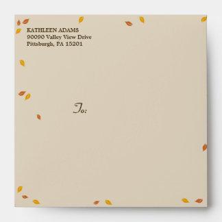 Oak Tree Fall Wedding - Square Envelope