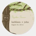 Oak Tree Favor Sticker