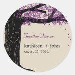 Oak Tree Favor Sticker Round Sticker