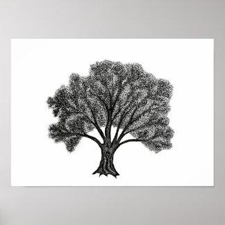 Oak Tree in-dots, Print
