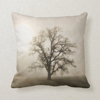 Oak Tree in the Fog Fine Art Pillow