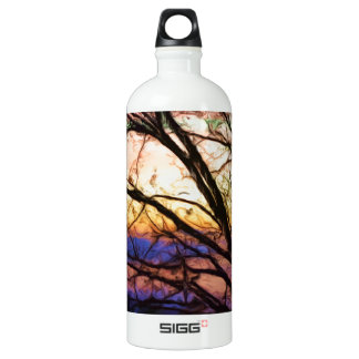 Oak Tree In The Sunset Water Bottle