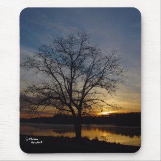 Oak Tree Lake Sunrise Mousepad