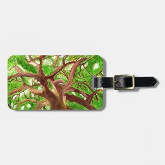 Oak Tree Tag For Luggage