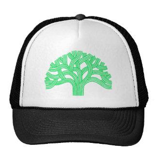 Oak tree Oakland lime Mesh Hats