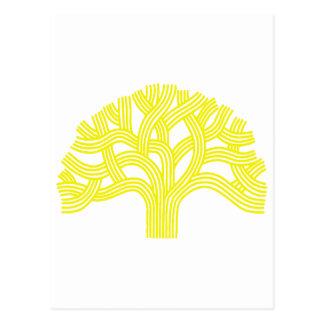 Oak tree Oakland yellow Postcard