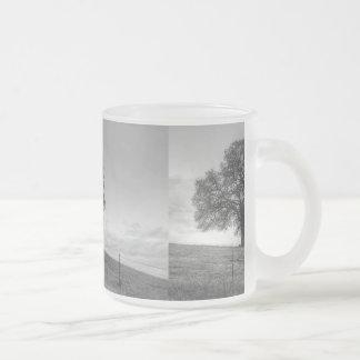 Oak Tree On A Hill 10 Oz Frosted Glass Coffee Mug