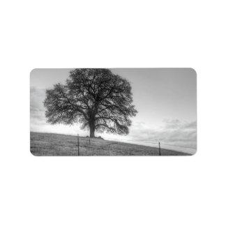 Oak Tree On A Hill Address Label