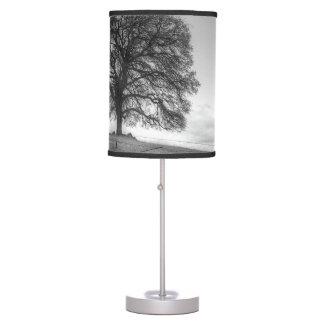 Oak Tree On A Hill Table Lamp