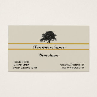 Oak Tree Plantation in Gold Business Card