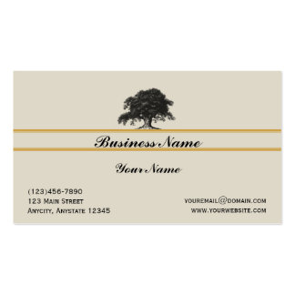 Oak Tree Plantation in Gold Business Card