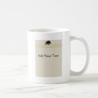 Oak Tree Plantation in Gold Coffee Mug