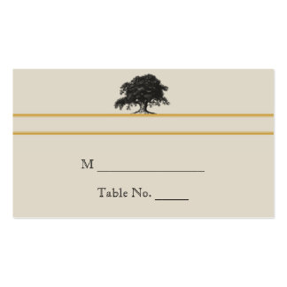 Oak Tree Plantation in Gold Wedding Place Cards Double-Sided Standard Business Cards (Pack Of 100)