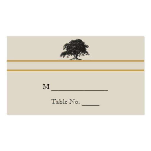 Oak Tree Plantation in Gold Wedding Place Cards Business Card
