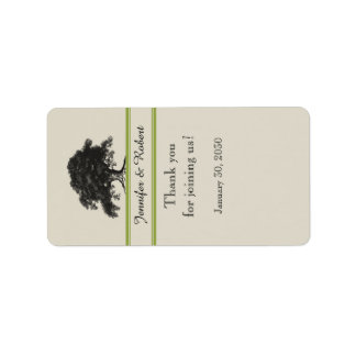 Oak Tree Plantation in Gree Wedding Lip Balm Label
