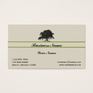 Oak Tree Plantation in Green Business Card