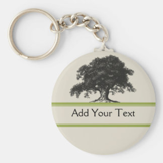 Oak Tree Plantation in Green Keychain