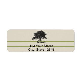 Oak Tree Plantation in Green Custom Return Address Label