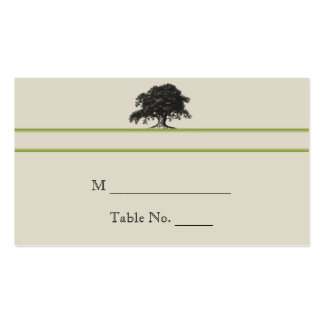 Oak Tree Plantation in Green Wedding Place Cards Double-Sided Standard Business Cards (Pack Of 100)