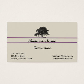 Oak Tree Plantation in Purple Business Card