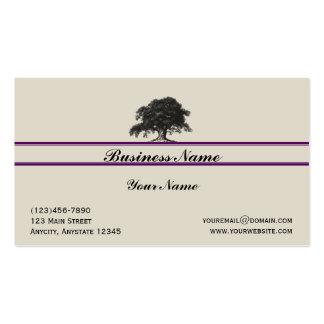 Oak Tree Plantation in Purple Business Card