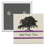 Oak Tree Plantation in Purple Button