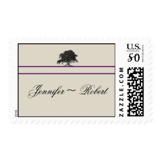 Oak Tree Plantation in Purple Postage