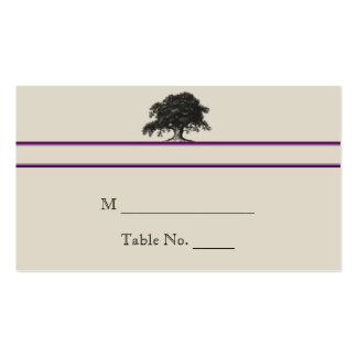 Oak Tree Plantation in Purple Wedding Place Cards Double-Sided Standard Business Cards (Pack Of 100)
