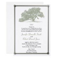 Oak Tree Plantation Wedding Invitation