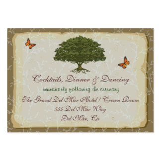 Oak Tree Reception Enclosure Card Large Business Cards (Pack Of 100)