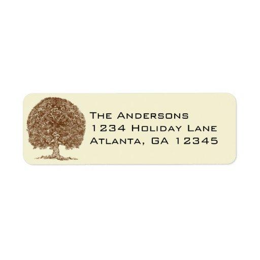 Oak Tree Return Address Return Address Label