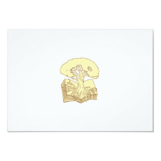 Oak Tree Rooted on Book Drawing Card