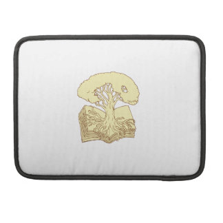 Oak Tree Rooted on Book Drawing Sleeve For MacBook Pro