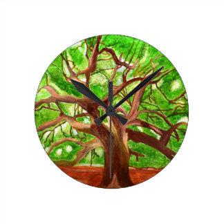 Oak Tree Round Clock