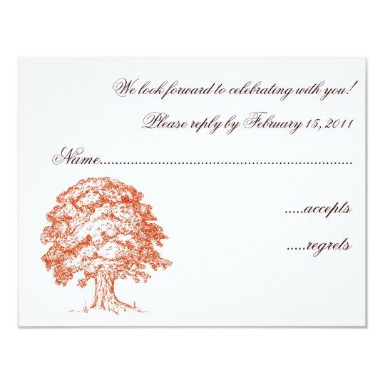Oak Tree RSVP Card