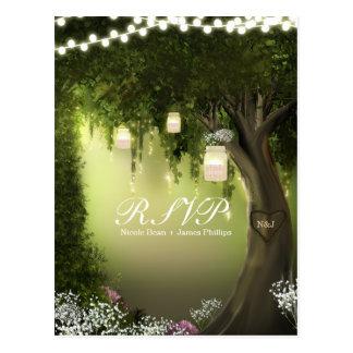 Oak Tree Rustic Enchanted Forest Garden RSVP Card