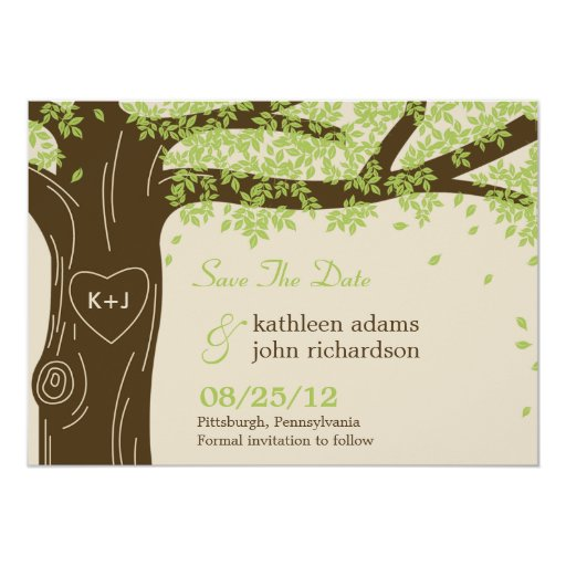 Oak Tree Save The Date Card
