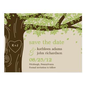 Oak Tree Save The Date Postcard Post Card
