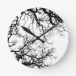 oak tree silhouette wallclock