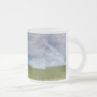 Oak Tree Solitaire 10 Oz Frosted Glass Coffee Mug