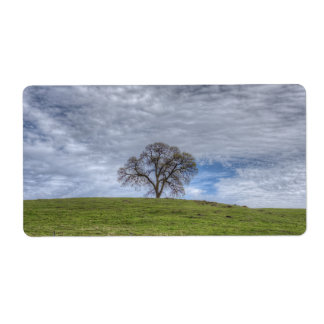 Oak Tree Solitaire Personalized Shipping Label