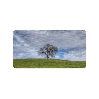 Oak Tree Solitaire Personalized Address Label