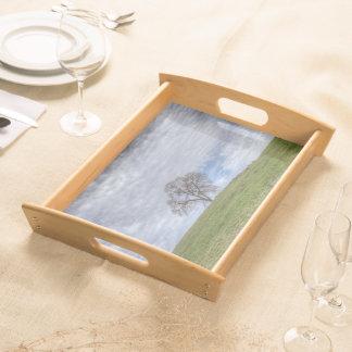 Oak Tree Solitaire Serving Platter