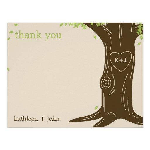 Oak Tree Thank You Card Invitations