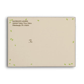 Oak Tree Wedding - A7 Envelope