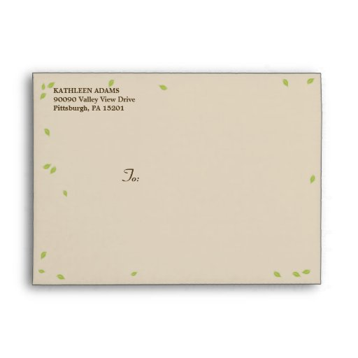 Oak Tree Wedding - A7 Envelope Envelopes
