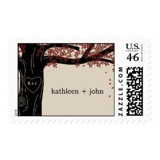 Oak Tree Wedding Custom Postage Stamp