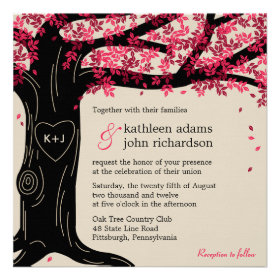 Oak Tree Wedding Invitation Personalized Invitation