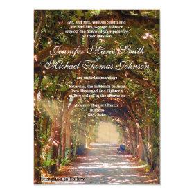 Oak Tree Wedding Invitation 4.5